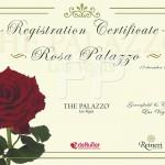 Registratie certificaat Roos Rosa Palazzo Reineri