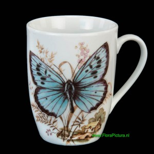 Beker vlinder decor
