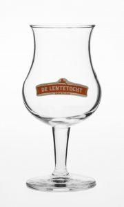 Glas met logo