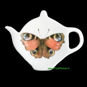 Theezakjeshouder met vlinder