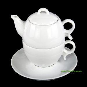 Theepot voor 2 koppen thee.
