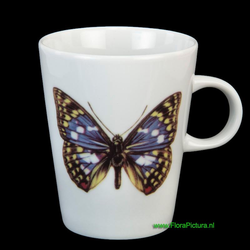 Porseleinen beker met een afbeelding van de Japanse Keizer vlinder